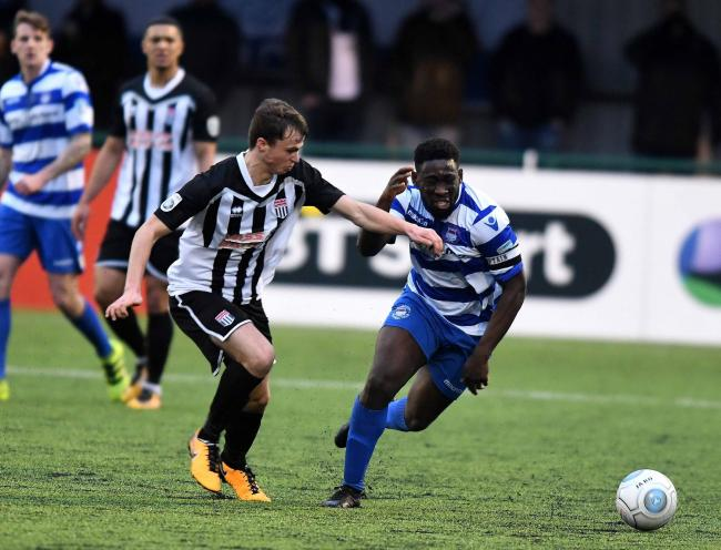Bristol City's James Morton, left, in action for Bath City