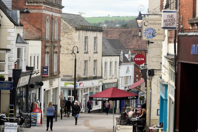 Stroud High Street.Photo by Simon Pizzey