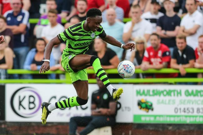 Shawn McCoulsky  made it six goal in pre-season at Bath City          Pic: Shane Healey