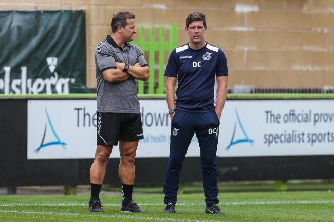 FGR boss Mark Cooper and Darrell Clarke Pic: Shane Healey/ Pro Sports Images