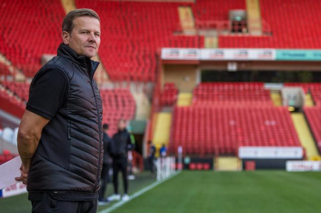 FGR boss Mark Cooper at the Valley Pic: Shane Healey/ Pro Sports