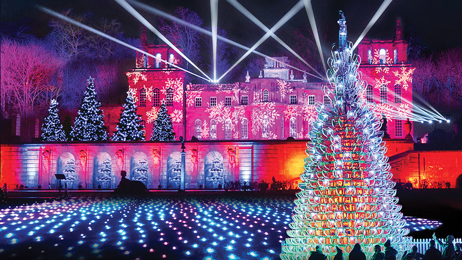 Christmas at Blenheim Palace Illuminated Light Trail