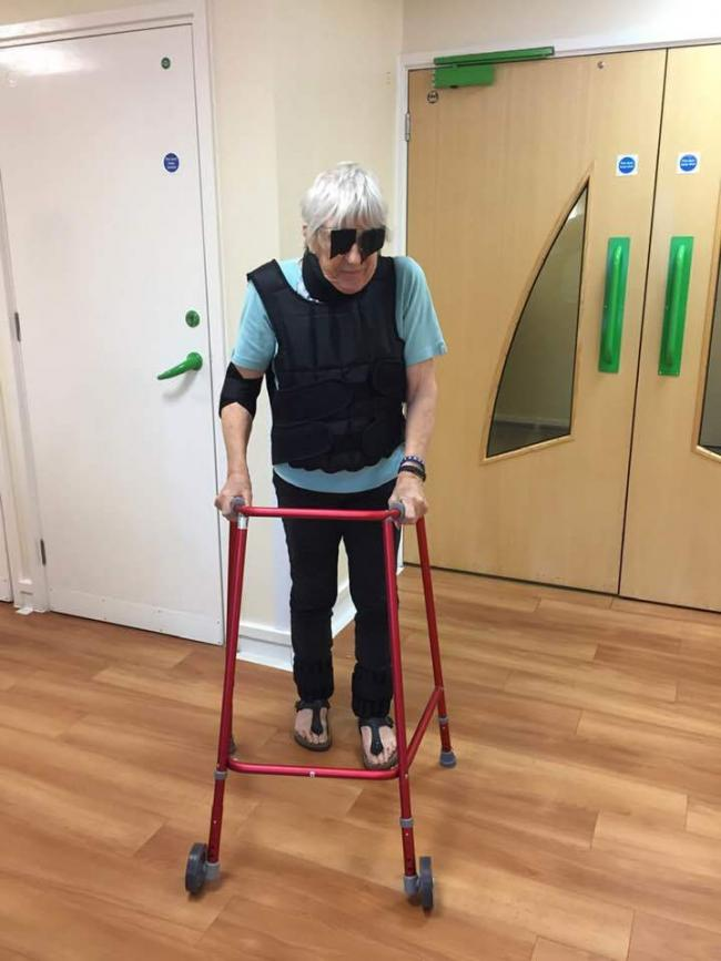 Cllr Lesley Williams experienced what it can be like for many of our elderly residents who suffer with mobility, sight and hearing loss