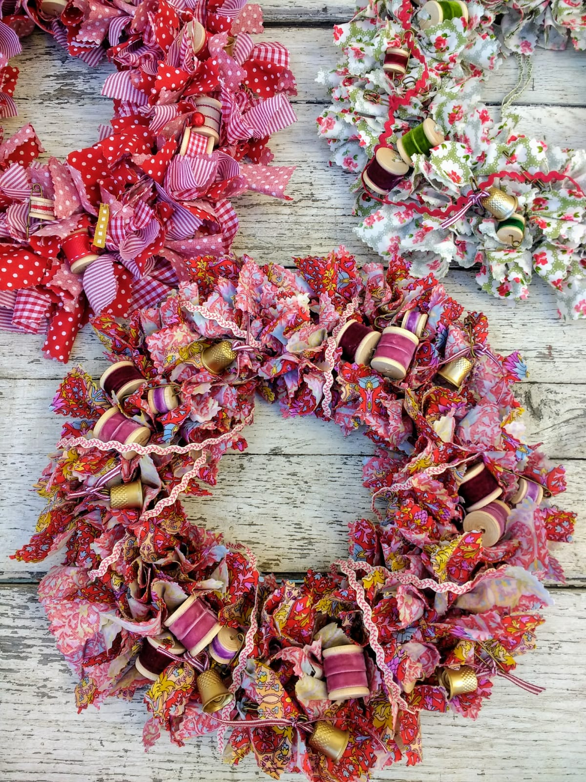 The Malthouse Collective Sew Vintage Christmas Wreath Making workshop