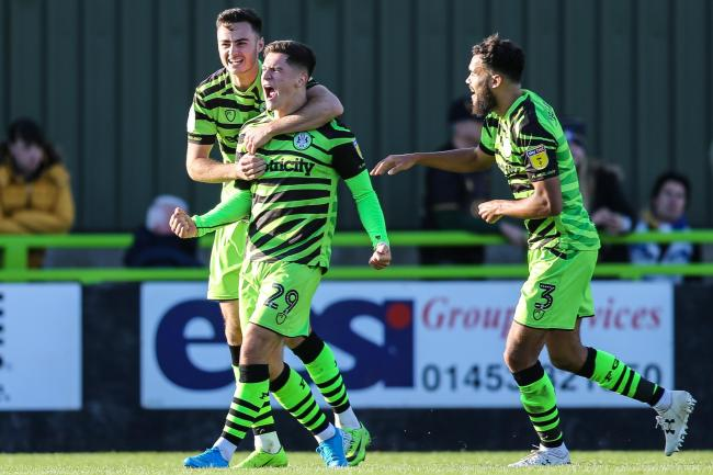 Jack Aitchison struck Forest Green's second                                       Pic: Shane Healey/ Pro Sports Images