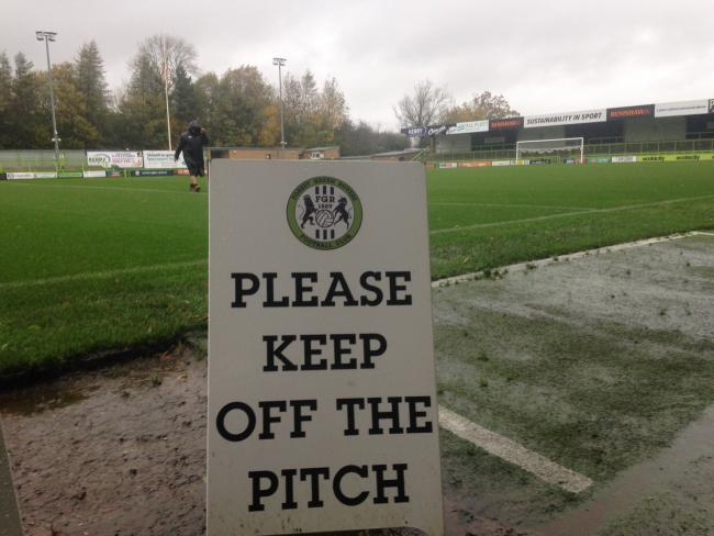 FOREST GREEN'S top-of-the-table clash at home to Crewe Alexandra is off.
