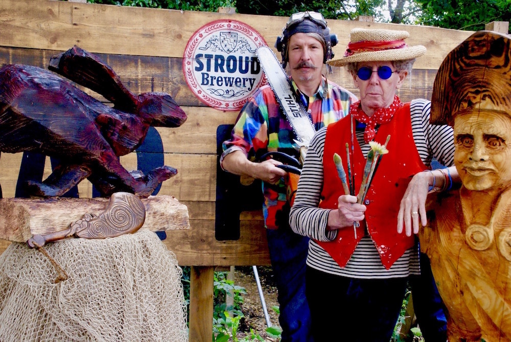 Chainsaw sculptor and painter join forces for Stroud Brewery exhibition - Stroud News and Journal