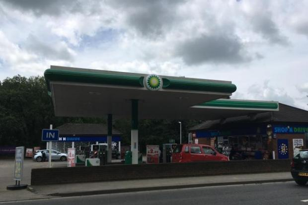 Stroud's BP garage on London Road