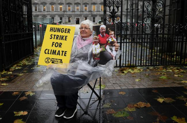Grandmother Patricia Devlin, 78, a member of Extinction Rebellion, took part in the hunger strikes. Photo credit: Brian Lawless/PA Wire