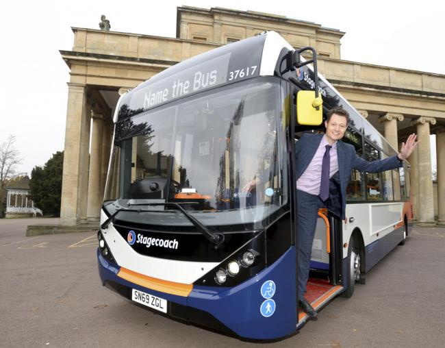 Rupert Cox, Stagecoach West Managing Director with one of the new buses. Photo: Paul Nicholls
