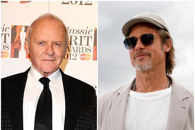 Sir Anthony Hopkins and Brad Pitt