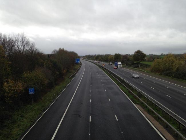 Two vehicles have crashed on the M5