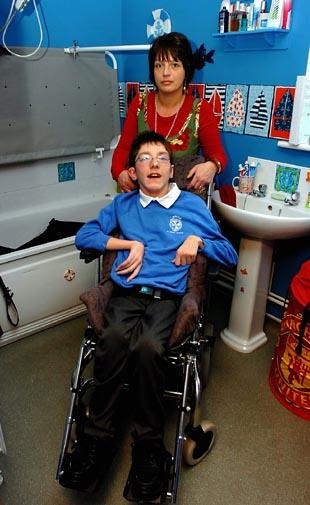 Mother struggles with council funding for disabled son's