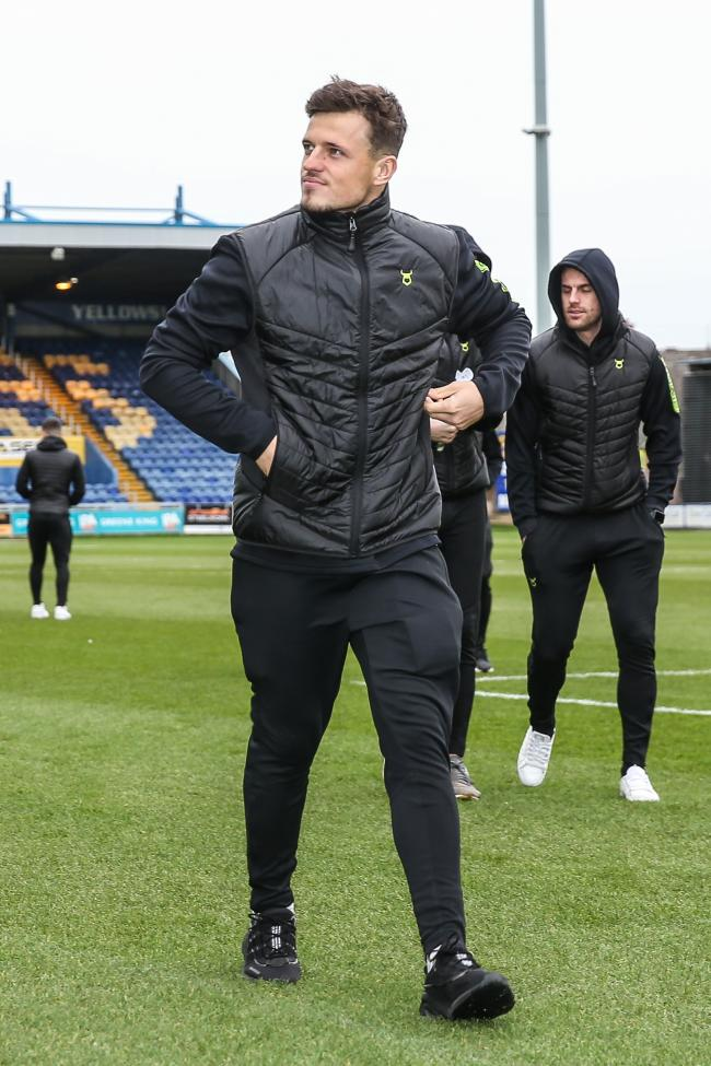 Josh March arrives at Mansfield