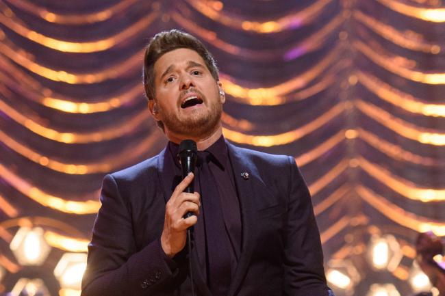 Michael Buble performs during the filming of the Graham Norton Show
