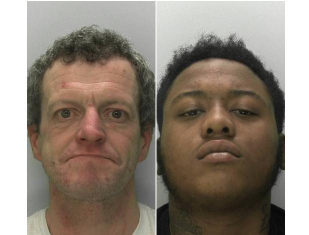 Left: James Coward and right: Dre Sanderson-Stapleton. Photos: Gloucestershire Police