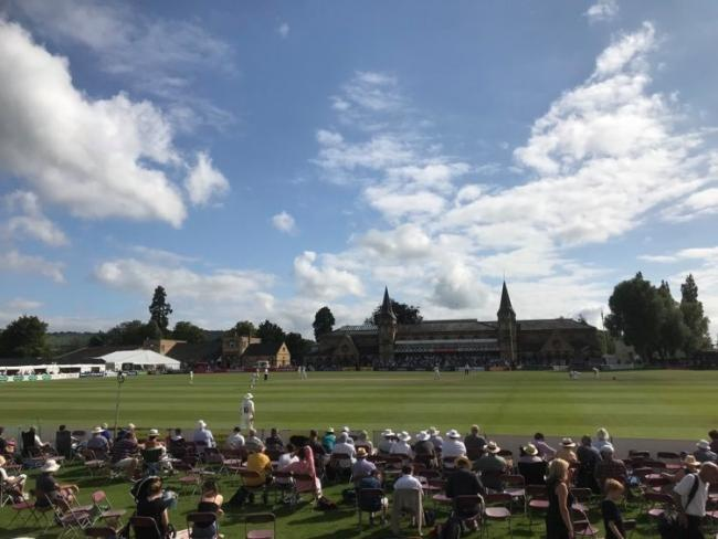 Gloucestershire in action against Worcestershire at last year's Cheltenham Cricket Festival