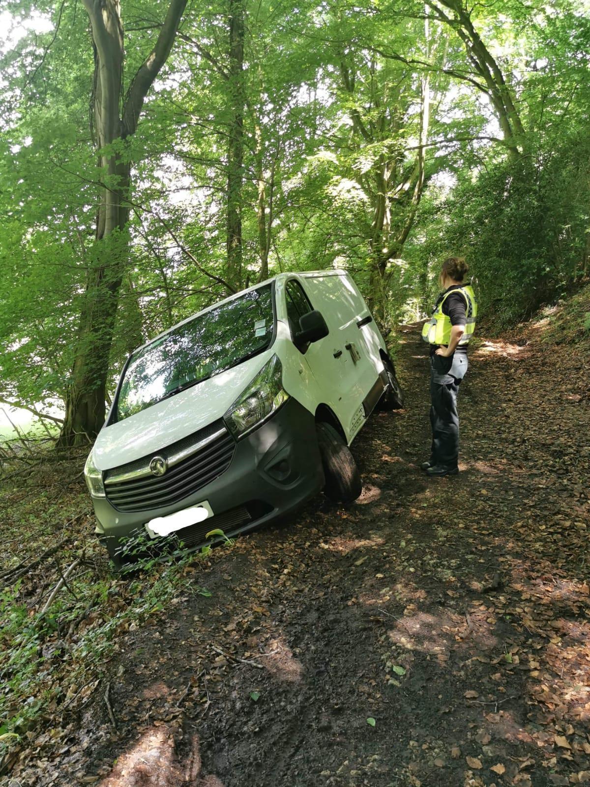 11505027 - Van almost tumbles down Cooper's Hill after following sat-nav