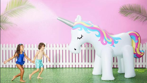 Stroud News and Journal: This unicorn sprinkler looms above kids, but it's a good size for adults, too. Credit: Sun Squad