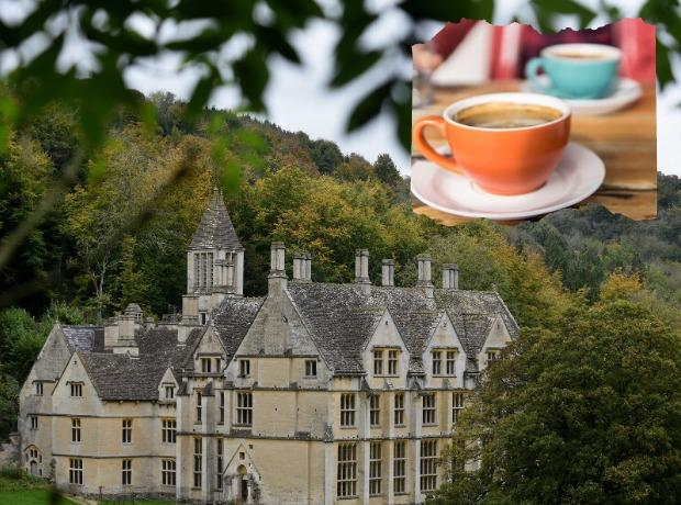Takeaway cafe set to open. Photo of Woodchester Mansion by Simon Pizzey
