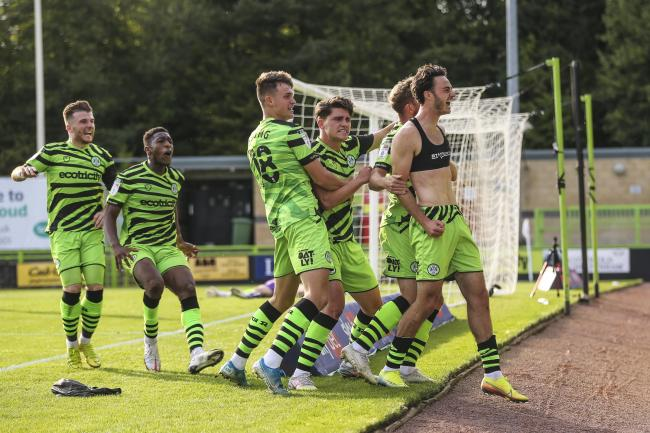 Forest Green Rovers' Aaron Collins scored a last minute goal to rescue a point