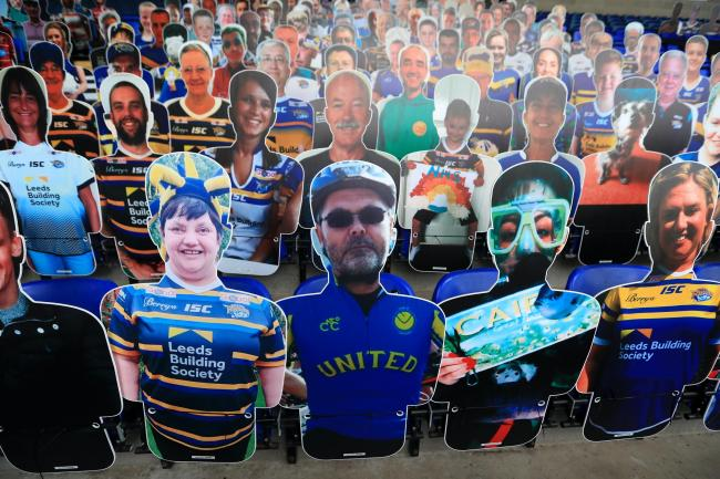 Cardboard cutouts have replaced fans at rugby league this season
