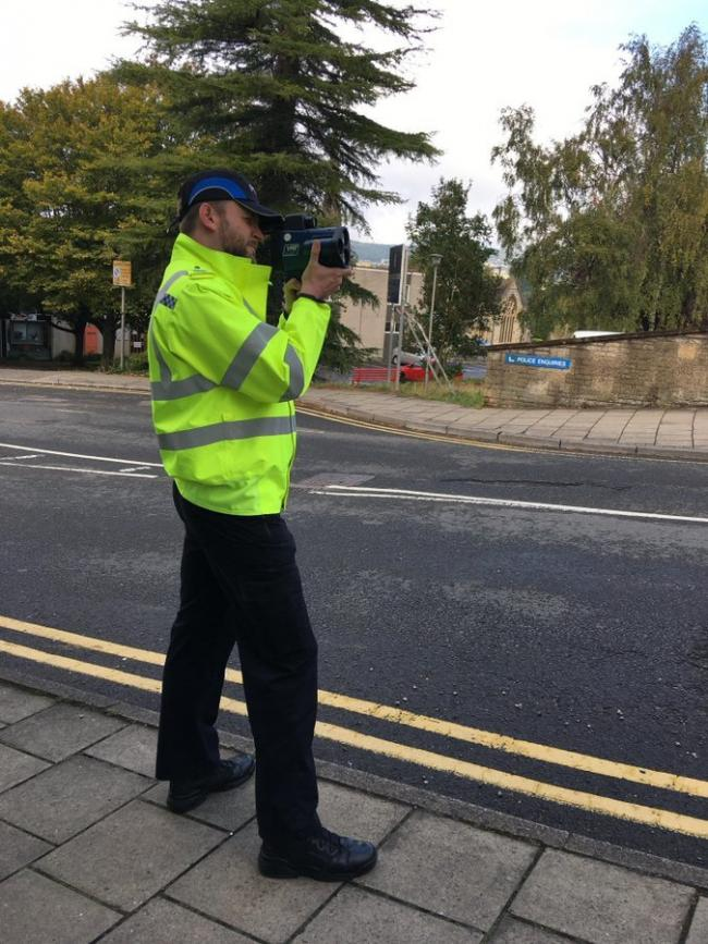 Cotswold and Stroud police training on the new speed camera equipment