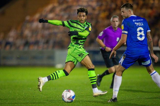 Odin Bailey made his second debut for Forest Green