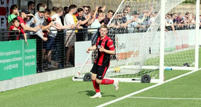 Owen Windsor playing for Cirencester Town