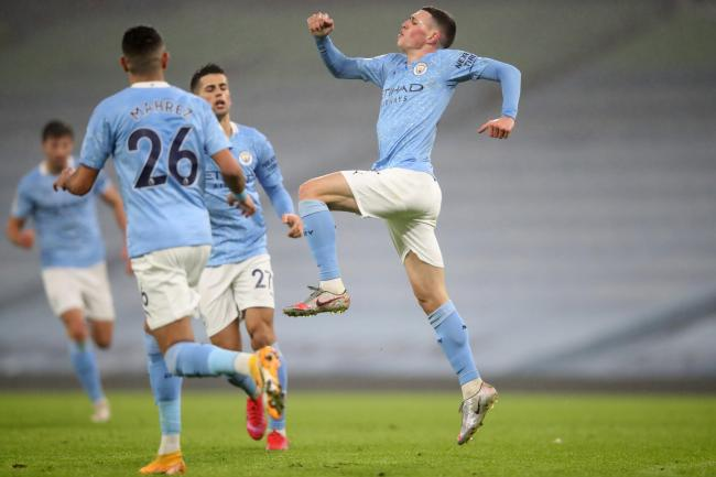 Phil Foden (right) continues to impress for Man City
