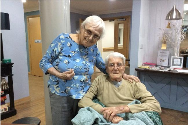 As part of Valentine's Day reminiscing activities at Scarlet House, on Westward Road, Keith and Dorothy Robinson looked back on their time as a couple
