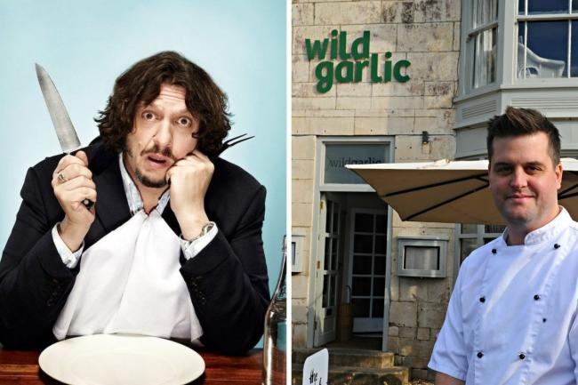 Left, food critic Jay Rayner and right, Wild Garlic chef Matthew Beardshall from Nailsworth