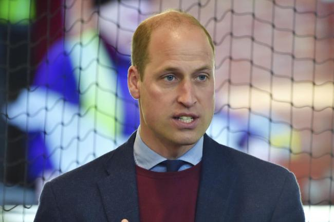 The Duke of Cambridge during a visit to Aston Villa's High Performance Centre at Bodymoor Heath, Warwickshire