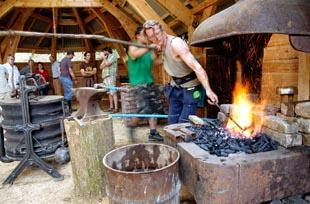 Students and staff reveal hand built Forge workshop at Ruskin Mill College