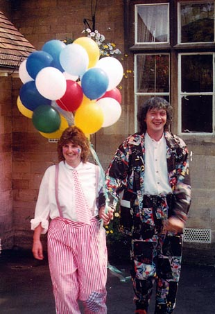 Darryn and Nicky on their wedding day at Stroud Register Office in 1996