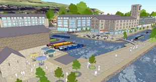 An artist's impression of the proposed development at Brimscombe port