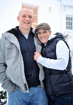 Zara Phillips and rugby star husband Mike Tindall