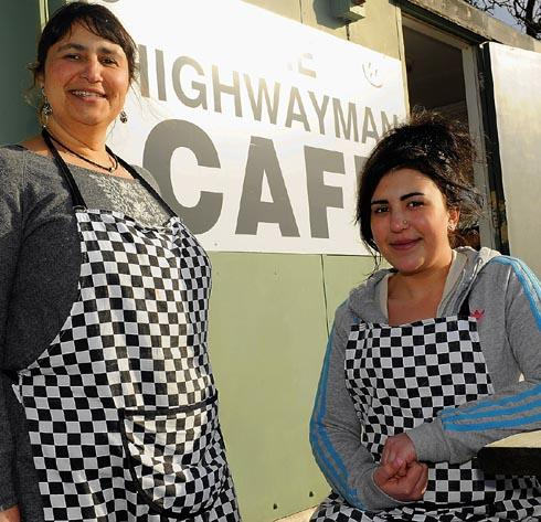Owner Lynn Backen and her daughter Molly, who have recently taken over ownership of the Highwayman Cafe in Cowcombe Hill, near Stroud