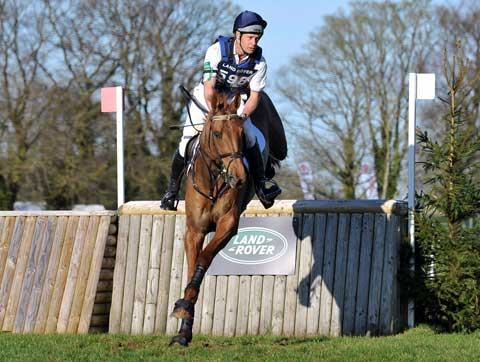 Stroud News and Journal: christoher burton on his Gatcombe runner-up Holstein Park Leilani