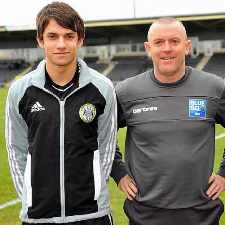 Ashley Brown with former FGR boss David Hockaday