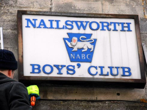 Iconic Nailsworth Boys' Club sign removed as building changes name