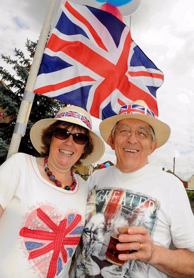 Angela and Ron Pearce enjoying the Jubilee celebrations on Grosvenor Road, Stonehouse.