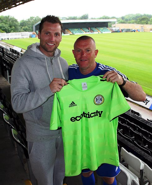 GREEN ARMY: Paul Green with Forest Green boss David Hockaday at the New Lawn  Picture: Stuart Brennan/FGR