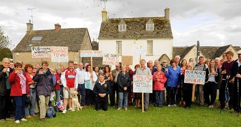Hundreds have taken part in protests and signed an online petition demanding that the Halfway House pub re-opens