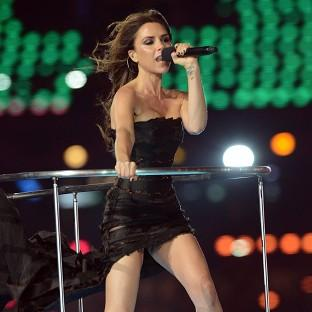 Victoria Beckham of The Spice Girls performs during the closing ceremony of the London 2012 Olympic games