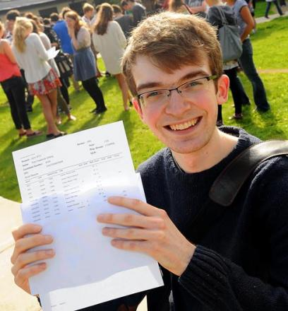 Felix Gilding is all smiles after opening his results