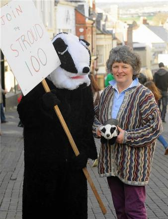 Jeanne Berry, founder of anti-badger culling group Stroud 100, who has announced she is standing for the post of Gloucestershire's first police and Crime Commissioner