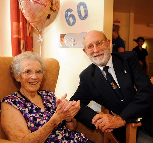 Mr and Mrs Wheeler celebrated their diamond wedding anniversary on Thursday