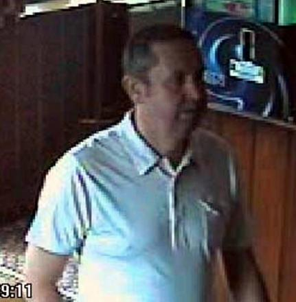 Police are trying to trace this man, suspected of being from South Wales, in connection with an assault outside a Stroud pub in July. Another man, who was arrested after the incident, has been issued with a football banning order.