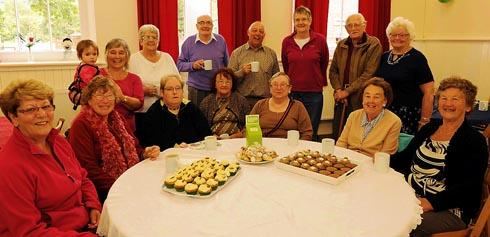 Visitors to the Macmillan coffee morning at Ebley Chapel enjoying a cuppa